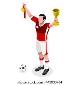 Soccer Player Athlete Football Winning World Championship Concept Events Spirit