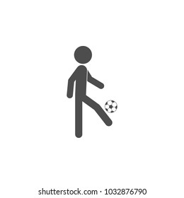 soccer player with a ball icon.Element of popular soccer football  icon. Premium quality graphic design. Signs, symbols collection icon for websites, web design,