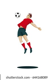Soccer Player with Ball. Vector Illustration