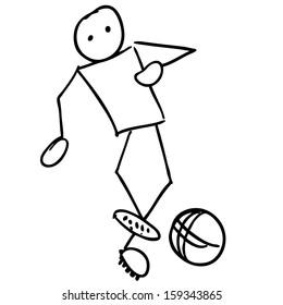 Soccer player doodle