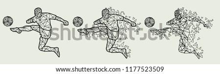 Soccer player football player