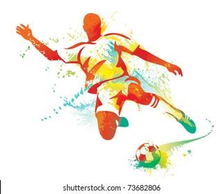 Jugendlicher Fussballer Stock Vektorgrafiken Bilder Und