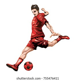 Soccer player red