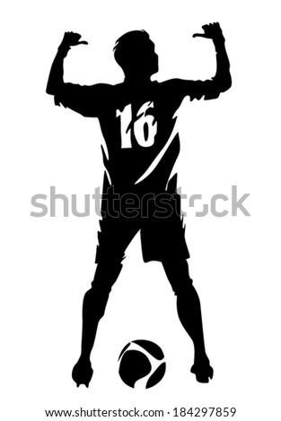 soccer player vector silhouette stock vector royalty free rh shutterstock com soccer player vector graphic abstract soccer player vector