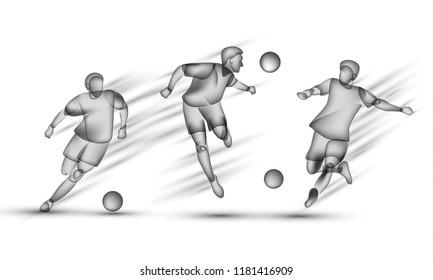 Fussball Schuss Fuss Stock Vektorgrafiken Bilder Und