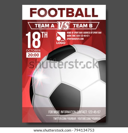 soccer poster vector sport event announcement stock vector royalty