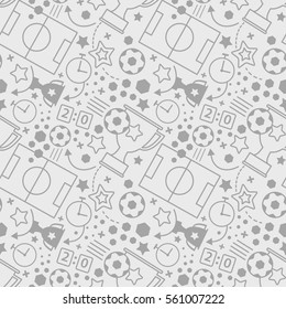 Soccer seamless pattern. Sport vector background.