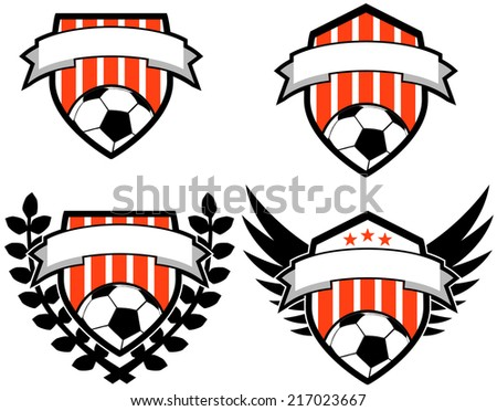 a5c33a8eec3 Soccer Shield Emblems Vector Stock Vector (Royalty Free) 217023667 ...