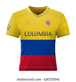0a3d8ba5f15 Soccer shirt in colors of colombian flag. National jersey for football team  of Colombia.