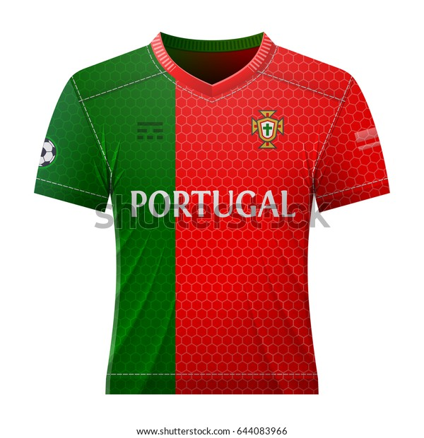 Soccer Shirt Colors Portuguese Flag National Stock Vector (Royalty Free) 644083966