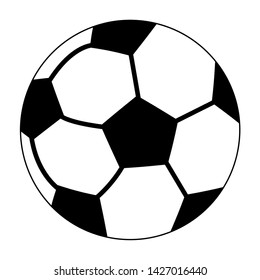 Soccer sport ball cartoon isolated symbol vector illustration graphic design