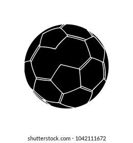 soccer sport ball flat icon