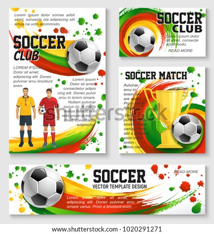 soccer sport club team banner template stock vector royalty free
