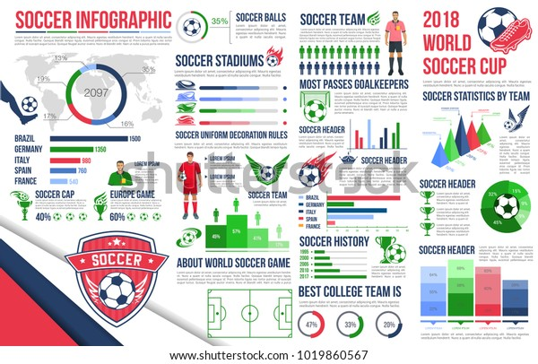 Soccer Sport Game Infographic Football Championship Stock Vector
