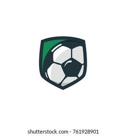 Soccer sport logo 3D vector