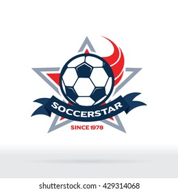 Soccer Star Badge, Football Club Icon