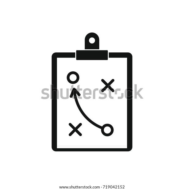 Taktischer Plan Symbol Schwarze Einfache