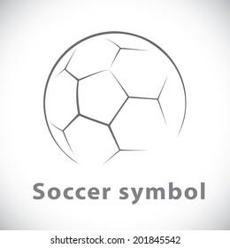Soccer symbol icon isolated white. Vector illustration, Logo template design