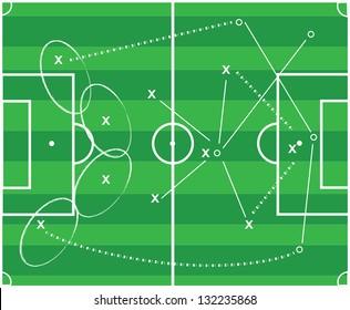 Soccer tactics vector design