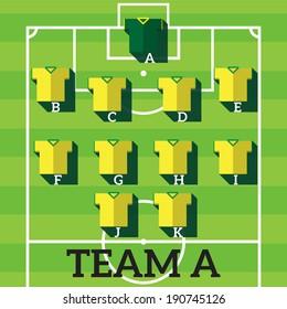 soccer team chart,soccer player position