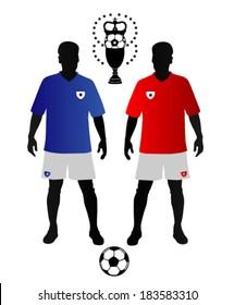 soccer teams symbols vector illustration