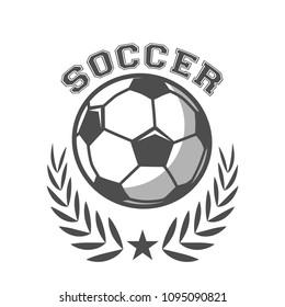 Soccer Tournament Logo Template vector
