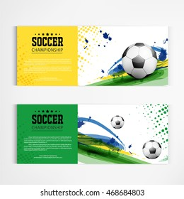 Soccer tournament modern sport banner template vector design.
