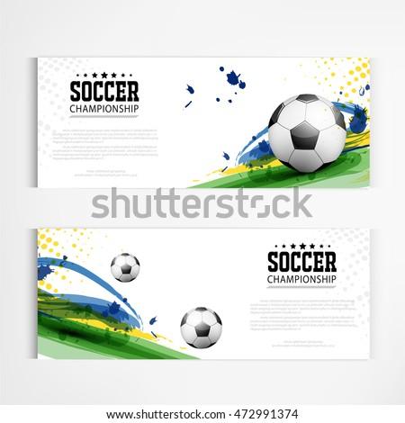 soccer tournament modern sport banner template stock vector royalty