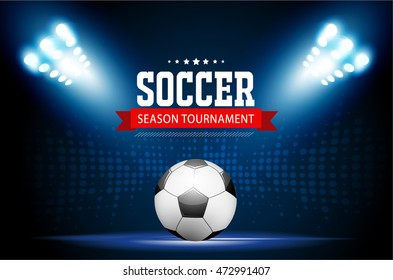 Soccer tournament modern sport posters template vector design.