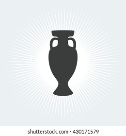 Soccer Trophy Cup Football Championship Prize Icon Winner Vector Illustration