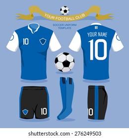 Soccer uniform template for your football club, illustration design.