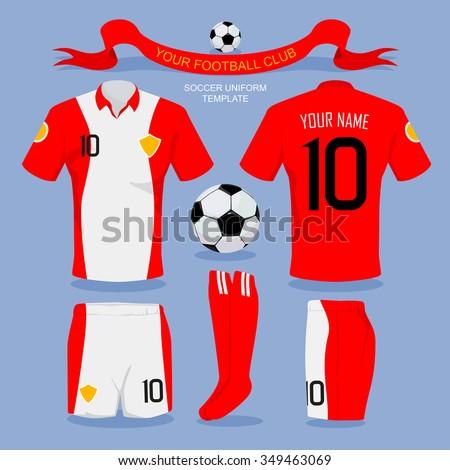 Soccer Uniform Template For Your Football Club Illustration Design