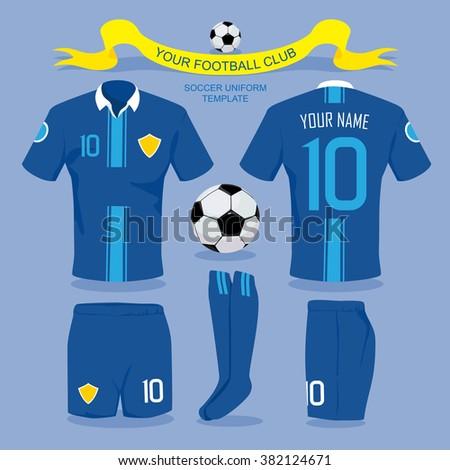 soccer uniform template your football club stock vector royalty