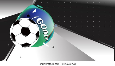 Soccer Vector illustration. Geometric background template of football game banner and poster.