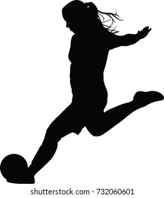 Soccer Player Silhouette Images, Stock Photos & Vectors ...