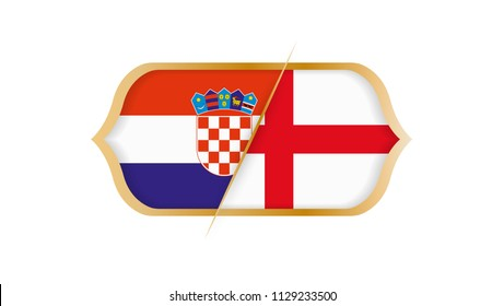 Soccer world championship Croatia vs England. Vector illustration.