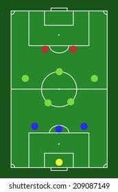 Soccer/Football Formation 3-5-2