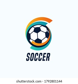 Soccer/Football modern and simple design vector illustration