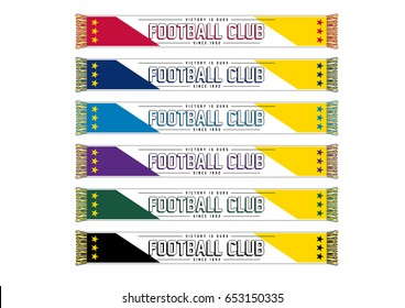 Soccer/Football Team Scarf // with team-wear colors