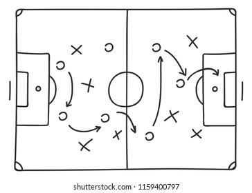 soccer-tactics sketch icon