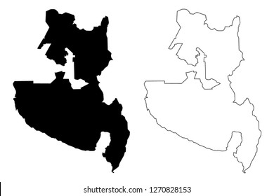 Soccsksargen Region (Regions and provinces of the Philippines, Republic of the Philippines) map vector illustration, scribble sketch Central Mindanao (Region XII) map