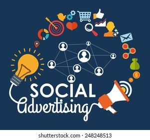 social advertising design, vector illustration eps10 graphic