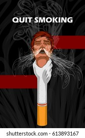 Social Awareness concept poster for Quit Smoking. Vector illustration