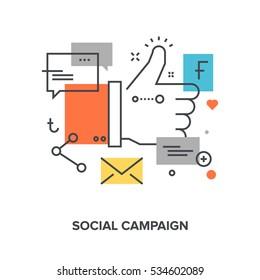social campaign concept