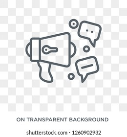 social campaign icon. Trendy flat vector social campaign icon on transparent background from General collection. High quality filled social campaign symbol use for web and mobile