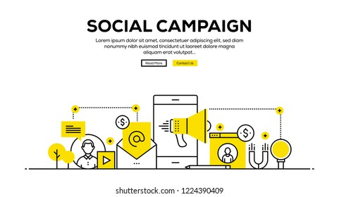 SOCIAL CAMPAIGN INFOGRAPHIC CONCEPT