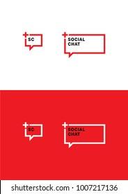 Social chat logo template.