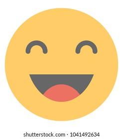 A social communication platforms' emoji laughing expression