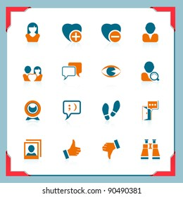 Social and communication icons