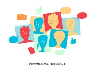 social community interact and share contents, messages and informations